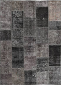 Patchwork Χαλι 165X237 Σύγχρονα Χειροποιητο Σκούρο Γκρι/Καφέ (Μαλλί, Περσικά/Ιρανικά)