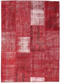 Patchwork Χαλι 160X226 Σύγχρονα Χειροποιητο Kόκκινα/Στο Χρώμα Της Σκουριάς (Μαλλί, Τουρκικά)