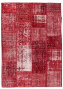 Patchwork Χαλι 163X229 Σύγχρονα Χειροποιητο Kόκκινα/Σκούρο Κόκκινο (Μαλλί, Τουρκικά)