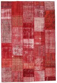 Patchwork Χαλι 201X299 Σύγχρονα Χειροποιητο Kόκκινα/Ροζ (Μαλλί, Τουρκικά)