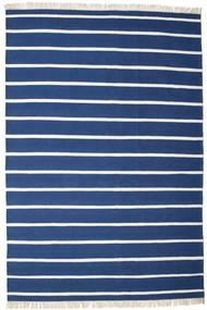 Dorri Stripe - Σκούρο Μπλε Χαλι 220X320 Σύγχρονα Χειροποίητη Ύφανση Σκούρο Μπλε/Μπλε (Μαλλί, Ινδικά)