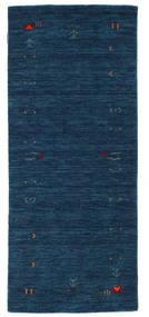 Γκάμπεθ Loom Frame - Σκούρο Μπλε Χαλι 80X200 Σύγχρονα Χαλι Διαδρομοσ Σκούρο Μπλε (Μαλλί, Ινδικά)
