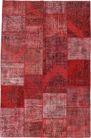 Patchwork Χαλι 196X301 Σύγχρονα Χειροποιητο Σκούρο Κόκκινο/Μωβ (Μαλλί, Τουρκικά)