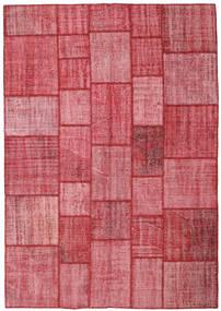 Patchwork Χαλι 205X295 Σύγχρονα Χειροποιητο Στο Χρώμα Της Σκουριάς/Ροζ (Μαλλί, Τουρκικά)