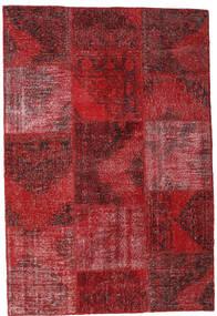 Patchwork Χαλι 158X232 Σύγχρονα Χειροποιητο Σκούρο Κόκκινο/Kόκκινα (Μαλλί, Τουρκικά)