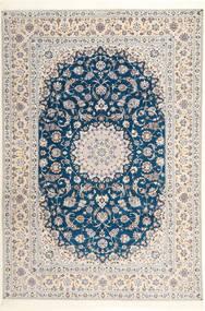 Nain 6La Habibian Χαλι 204X304 Ανατολής Χειροποιητο Ανοιχτό Γκρι/Λευκό/Κρεμ (Μάλλινα/Μεταξωτά, Περσικά/Ιρανικά)