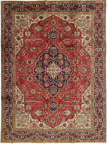 Tabriz Χαλι 245X327 Ανατολής Χειροποιητο Σκούρο Καφέ/Σκούρο Κόκκινο (Μαλλί, Περσικά/Ιρανικά)