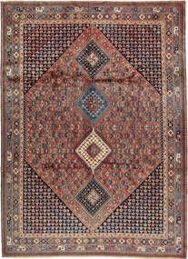 Yalameh Χαλι 252X349 Ανατολής Χειροποιητο Σκούρο Καφέ/Σκούρο Κόκκινο Μεγαλα (Μαλλί, Περσικά/Ιρανικά)