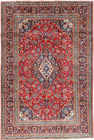 Mashad Χαλι 191X284 Ανατολής Χειροποιητο Σκούρο Γκρι/Σκούρο Κόκκινο (Μαλλί, Περσικά/Ιρανικά)