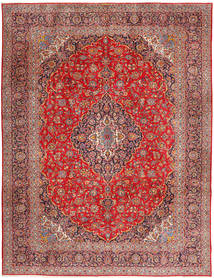 Keshan Χαλι 315X420 Ανατολής Χειροποιητο Σκούρο Κόκκινο/Στο Χρώμα Της Σκουριάς Μεγαλα (Μαλλί, Περσικά/Ιρανικά)