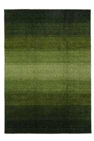 Γκάμπεθ Rainbow - Λαδί Χαλι 240X340 Σύγχρονα Σκούρο Πράσινο/Λαδί (Μαλλί, Ινδικά)