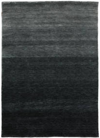 Γκάμπεθ Up To Down Χαλι 160X230 Σύγχρονα Μαύρα/Σκούρο Πράσινο (Μαλλί, Ινδικά)