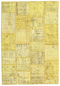Patchwork Χαλι 159X231 Σύγχρονα Χειροποιητο Κίτρινος/Μπεζ (Μαλλί, Τουρκικά)