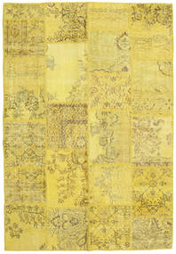 Patchwork Χαλι 160X233 Σύγχρονα Χειροποιητο Κίτρινος/Σκούρο Μπεζ (Μαλλί, Τουρκικά)