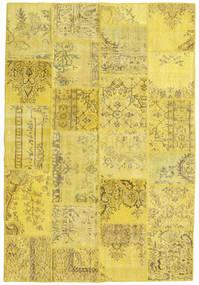 Patchwork Χαλι 158X234 Σύγχρονα Χειροποιητο Κίτρινος/Λαδί (Μαλλί, Τουρκικά)
