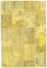 Patchwork Χαλι 159X230 Σύγχρονα Χειροποιητο Κίτρινος/Σκούρο Μπεζ (Μαλλί, Τουρκικά)