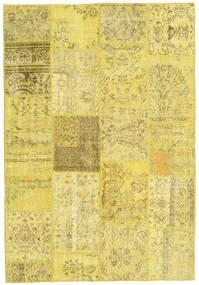 Patchwork Χαλι 159X232 Σύγχρονα Χειροποιητο Κίτρινος/Σκούρο Μπεζ (Μαλλί, Τουρκικά)