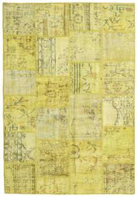 Patchwork Χαλι 159X232 Σύγχρονα Χειροποιητο Κίτρινος/Λαδί (Μαλλί, Τουρκικά)