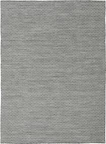 Κιλίμ Honey Comb - Μαύρα/Γκρι Χαλι 210X290 Σύγχρονα Χειροποίητη Ύφανση Ανοιχτό Γκρι/Τυρκουάζ Μπλε (Μαλλί, Ινδικά)