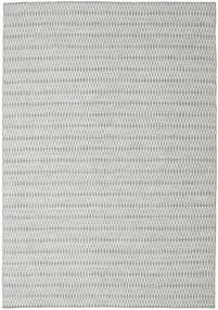 Κιλίμ Long Stitch - Γκρι Χαλι 240X340 Σύγχρονα Χειροποίητη Ύφανση Ανοιχτό Γκρι/Τυρκουάζ Μπλε (Μαλλί, Ινδικά)