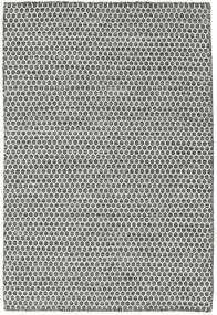 Κιλίμ Honey Comb - Μαύρα/Γκρι Χαλι 120X180 Σύγχρονα Χειροποίητη Ύφανση Ανοιχτό Γκρι/Σκούρο Γκρι (Μαλλί, Ινδικά)