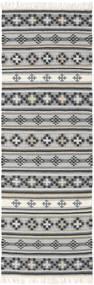 Κιλίμ Cizre Χαλι 80X350 Σύγχρονα Χειροποίητη Ύφανση Χαλι Διαδρομοσ Ανοιχτό Γκρι/Σκούρο Γκρι (Μαλλί, Ινδικά)