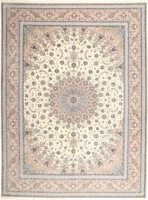 Isfahan Μεταξωτό Στημόνι Χαλι 315X420 Ανατολής Χειροποιητο Ανοιχτό Γκρι/Μπεζ Μεγαλα (Μάλλινα/Μεταξωτά, Περσικά/Ιρανικά)