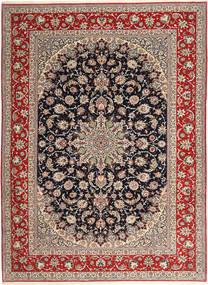 Isfahan Μεταξωτό Στημόνι Χαλι 265X363 Ανατολής Χειροποιητο Ανοιχτό Γκρι/Σκούρο Κόκκινο Μεγαλα (Μάλλινα/Μεταξωτά, Περσικά/Ιρανικά)