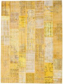 Patchwork Χαλι 273X368 Σύγχρονα Χειροποιητο Σκούρο Μπεζ/Κίτρινος Μεγαλα (Μαλλί, Τουρκικά)