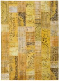 Patchwork Χαλι 272X375 Σύγχρονα Χειροποιητο Κίτρινος/Λαδί Μεγαλα (Μαλλί, Τουρκικά)