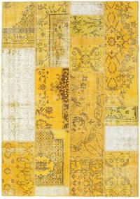 Patchwork Χαλι 161X230 Σύγχρονα Χειροποιητο Κίτρινος/Μπεζ (Μαλλί, Τουρκικά)