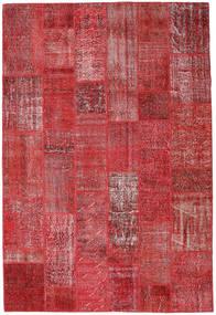 Patchwork Χαλι 204X302 Σύγχρονα Χειροποιητο Σκούρο Κόκκινο/Kόκκινα (Μαλλί, Τουρκικά)