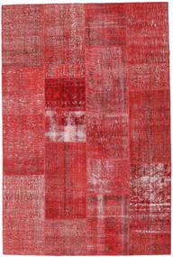 Patchwork Χαλι 202X303 Σύγχρονα Χειροποιητο Στο Χρώμα Της Σκουριάς/Σκούρο Κόκκινο (Μαλλί, Τουρκικά)