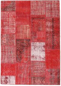 Patchwork Χαλι 162X230 Σύγχρονα Χειροποιητο Στο Χρώμα Της Σκουριάς/Σκούρο Κόκκινο/Kόκκινα (Μαλλί, Τουρκικά)