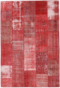 Patchwork Χαλι 203X298 Σύγχρονα Χειροποιητο Σκούρο Κόκκινο/Στο Χρώμα Της Σκουριάς (Μαλλί, Τουρκικά)
