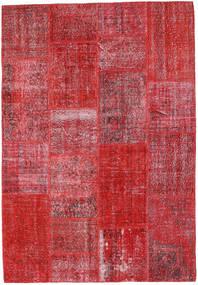Patchwork Χαλι 160X231 Σύγχρονα Χειροποιητο Kόκκινα/Στο Χρώμα Της Σκουριάς (Μαλλί, Τουρκικά)