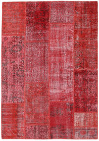 Patchwork Χαλι 160X230 Σύγχρονα Χειροποιητο Kόκκινα/Στο Χρώμα Της Σκουριάς (Μαλλί, Τουρκικά)