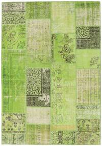 Patchwork Χαλι 161X232 Σύγχρονα Χειροποιητο Ανοιχτό Πράσινο/Πράσινο (Μαλλί, Τουρκικά)