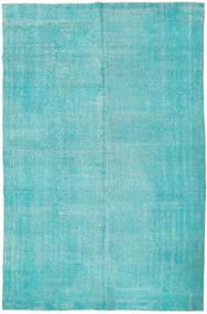 Colored Βιντάζ Χαλι 201X306 Σύγχρονα Χειροποιητο Τυρκουάζ Μπλε/Τυρκουάζ Μπλε/Ανοικτό Μπλε (Μαλλί, Τουρκικά)