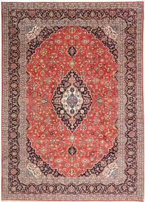 Keshan Χαλι 268X376 Ανατολής Χειροποιητο Στο Χρώμα Της Σκουριάς/Ανοιχτό Ροζ Μεγαλα (Μαλλί, Περσικά/Ιρανικά)