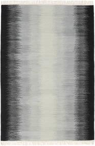 Ikat - Μαύρα/Γκρι Χαλι 140X200 Σύγχρονα Χειροποίητη Ύφανση Ανοιχτό Γκρι/Μαύρα (Μαλλί, Ινδικά)