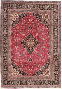 Mashad Πατίνα Χαλι 195X278 Ανατολής Χειροποιητο Σκούρο Κόκκινο/Στο Χρώμα Της Σκουριάς (Μαλλί, Περσικά/Ιρανικά)