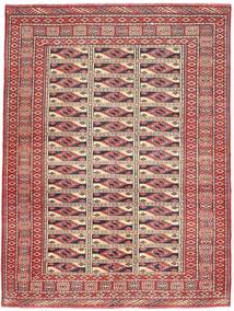 Turkaman Πατίνα Χαλι 131X177 Ανατολής Χειροποιητο Σκούρο Κόκκινο/Καφέ (Μαλλί, Περσικά/Ιρανικά)