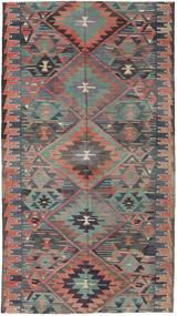 Κιλίμ Τουρκία Χαλι 163X292 Ανατολής Χειροποίητη Ύφανση Σκούρο Γκρι/Ανοιχτό Καφέ (Μαλλί, Τουρκικά)