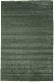 Χειροκίνητου Αργαλειού Fringes - Πράσινο Του Δάσους Χαλι 300X400 Σύγχρονα Λαδί/Σκούρο Πράσινο Μεγαλα (Μαλλί, Ινδικά)