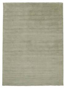 Χειροκίνητου Αργαλειού Fringes - Soft Teal Χαλι 200X300 Σύγχρονα Ανοιχτό Πράσινο/Σκούρο Γκρι (Μαλλί, Ινδικά)
