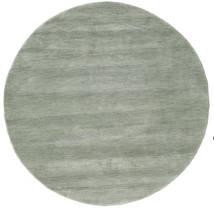 Χειροκίνητου Αργαλειού - Soft Teal Χαλι Ø 150 Σύγχρονα Στρογγυλο Ανοιχτό Γκρι/Ανοιχτό Πράσινο (Μαλλί, Ινδικά)