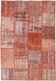 Patchwork Χαλι 158X231 Σύγχρονα Χειροποιητο Σκούρο Κόκκινο/Ανοιχτό Ροζ (Μαλλί, Τουρκικά)