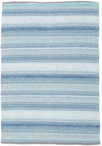 Wilma - Μπλε Χαλι 120X180 Σύγχρονα Χειροποίητη Ύφανση Ανοικτό Μπλε/Μπεζ (Βαμβάκι, Ινδικά)