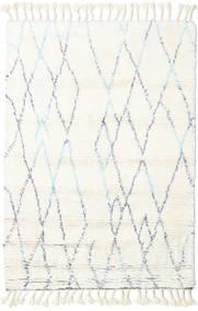 Rana - Natural/Μπλε Χαλι 120X180 Σύγχρονα Χειροποιητο Μπεζ/Λευκό/Κρεμ (Μαλλί, Ινδικά)